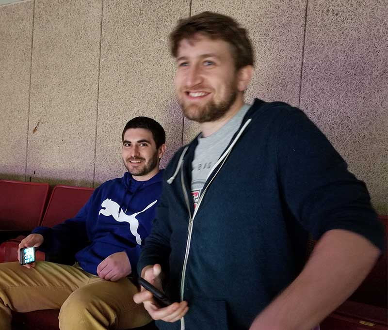 Bryan and Max pre-game