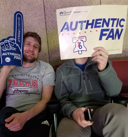 Max is an authentic 76ers fan!