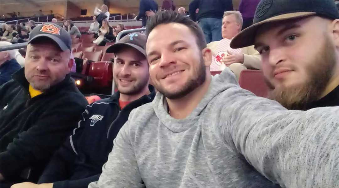 Sam, Brian, Doug and Elliot take a selfie!