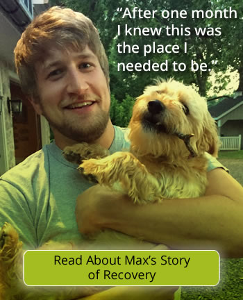 read Max's story about overcoming addiction