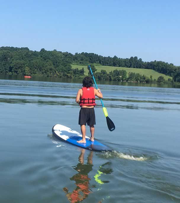 Ben paddleboarding