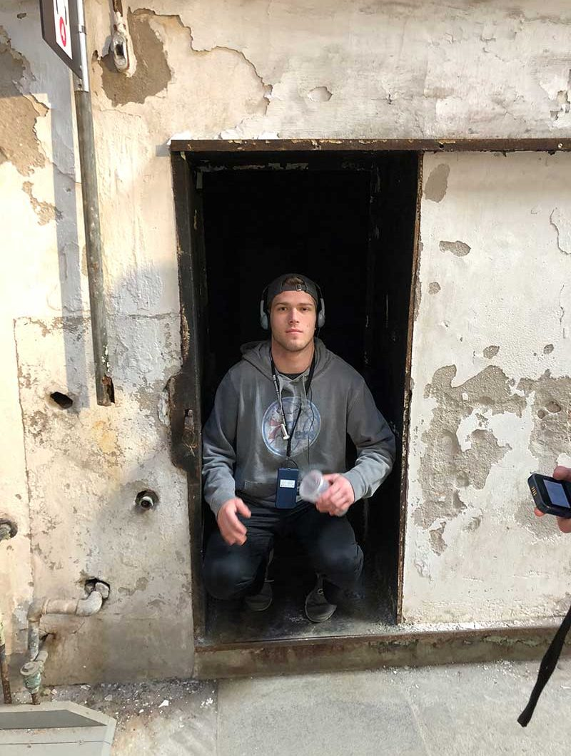 Hayden at Eastern State Penitentiary
