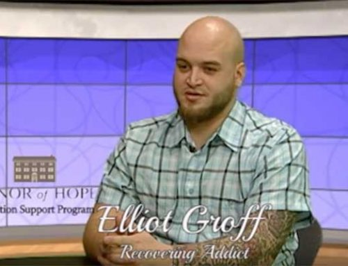 Elliot talks about his struggles with addiction and how Manor of Hope is giving him a second chance