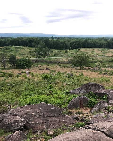 battlefield at gettysburg