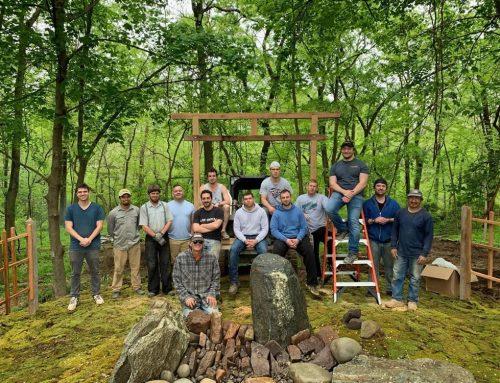 The MOH Guys Help to Build a Zen Garden