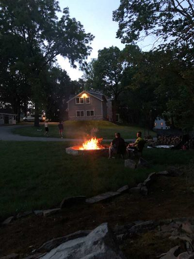 campfire at manor of hope