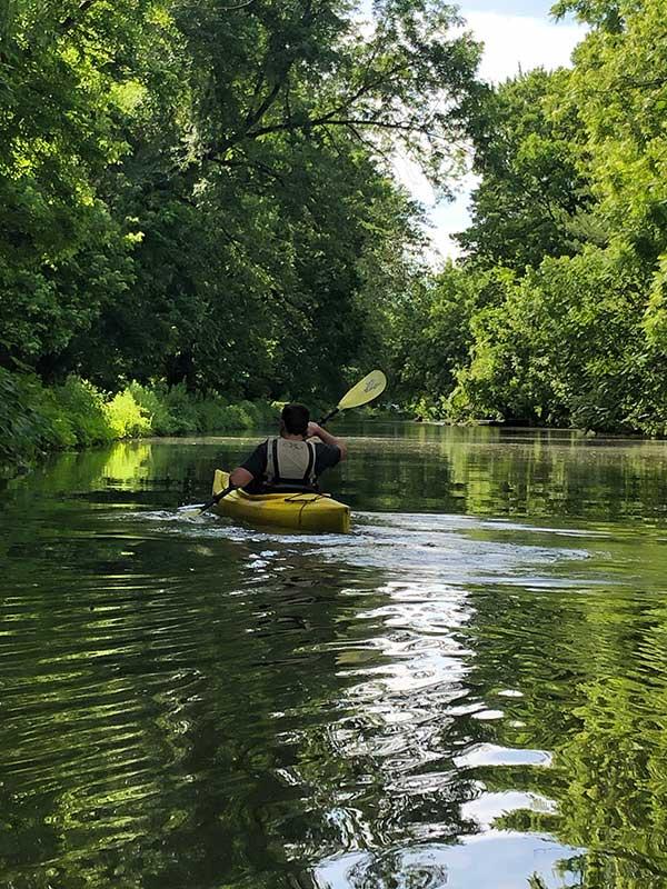 on a canoe