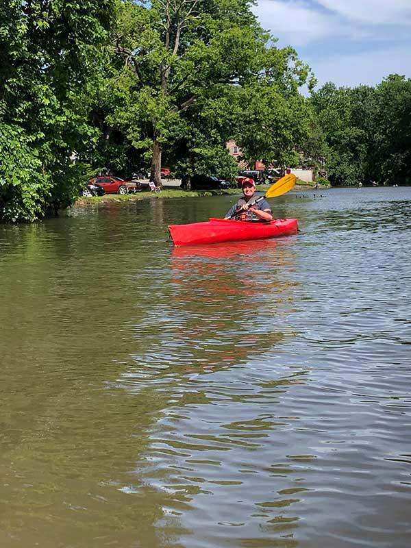 fun day canoeing