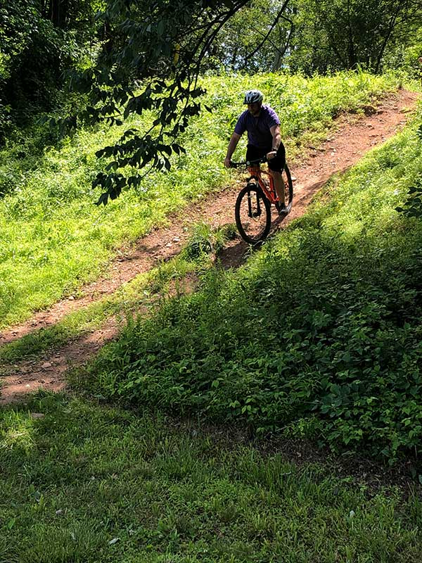 riding on the trails