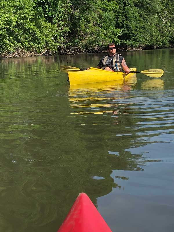 canoeing downstream