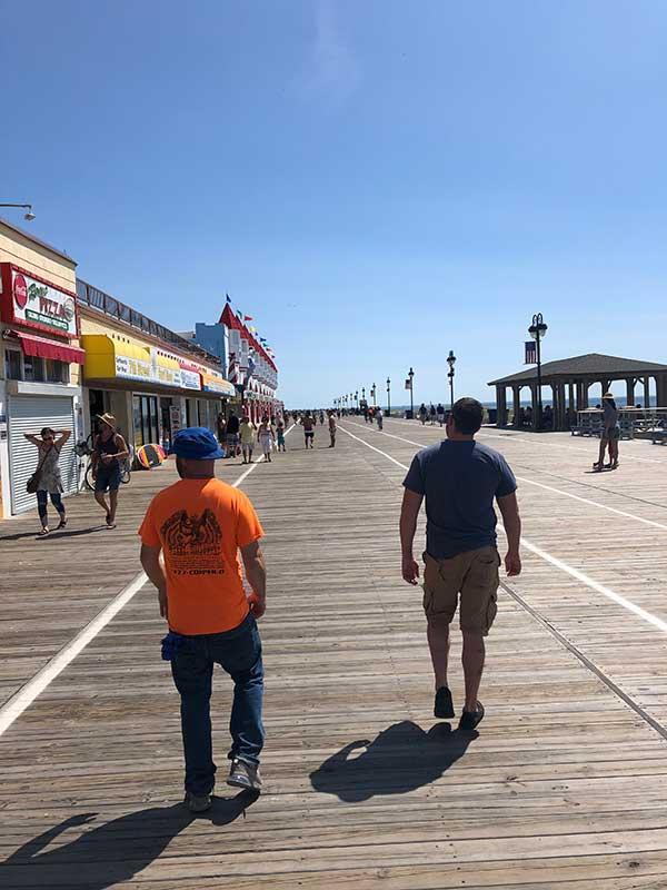 strolling the boardwalk
