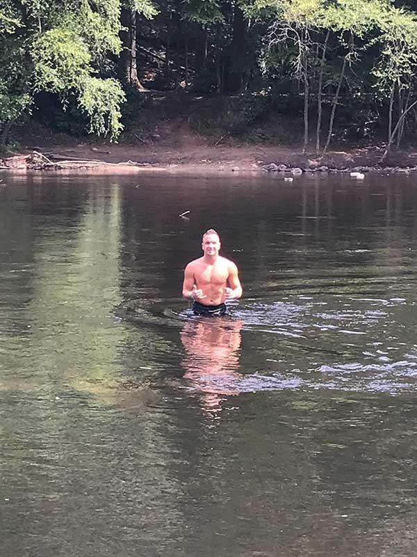 a dip in the lehigh river