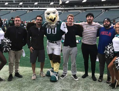The Guys Do Yoga On Lincoln Financial Field!