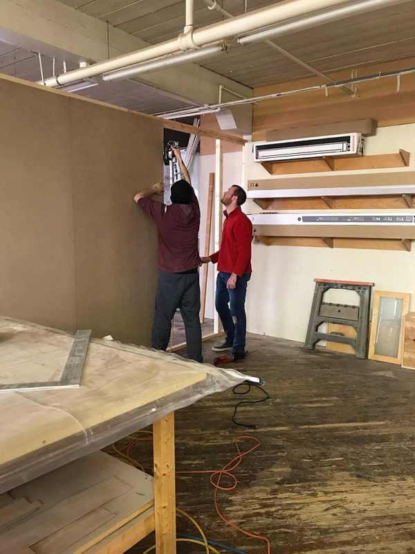 transforming a woodworking space