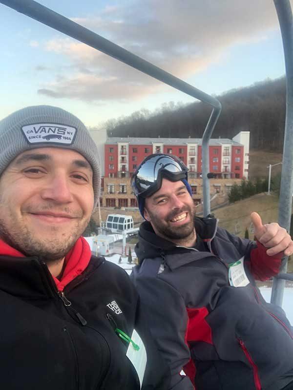 guys on the ski lift